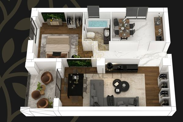 Luxury 2 Rooms Apartment